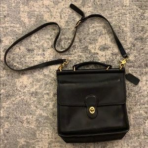 Vintage COACH Crossbody Black Leather Bag